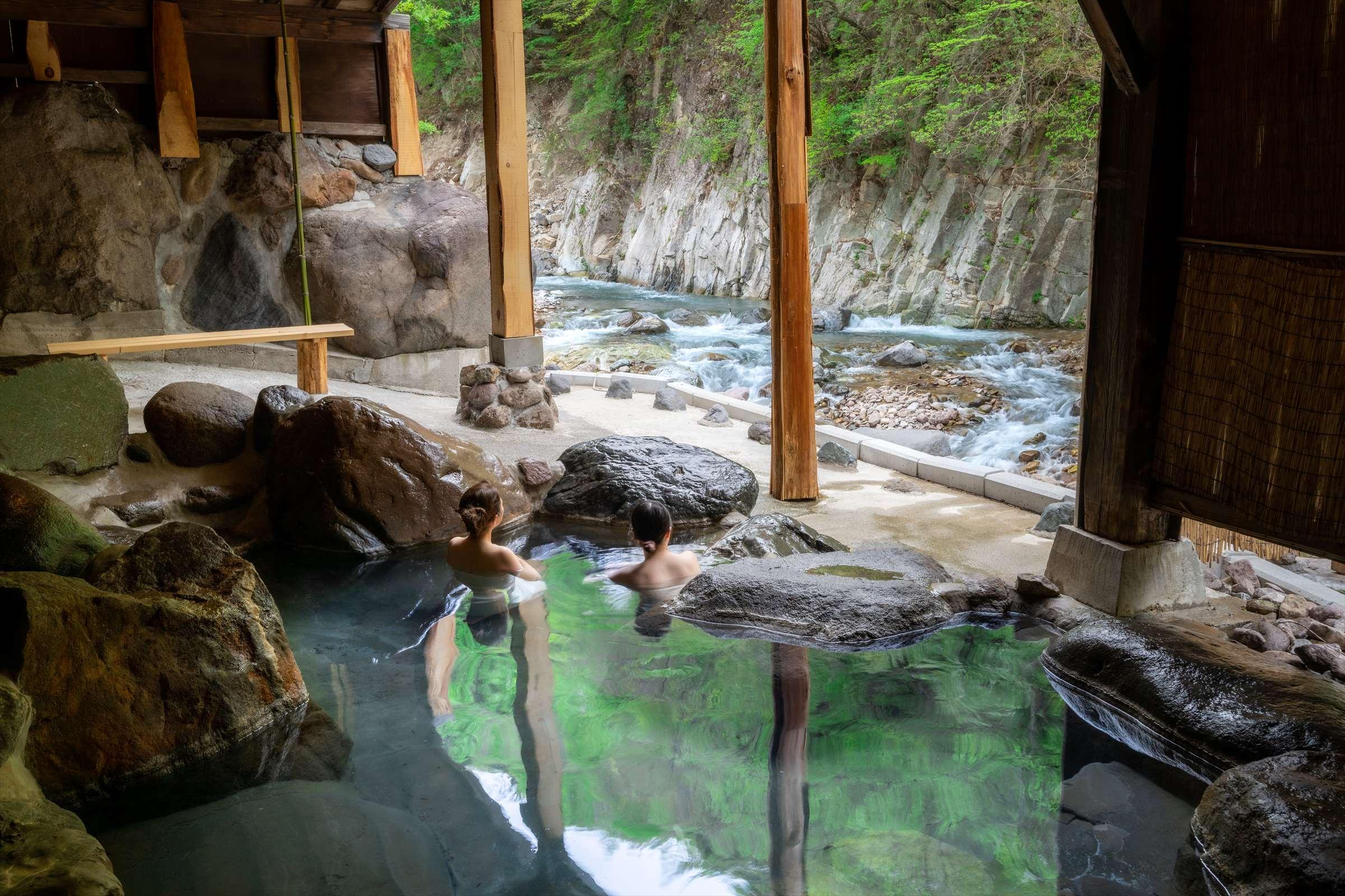 Family hot spring baths